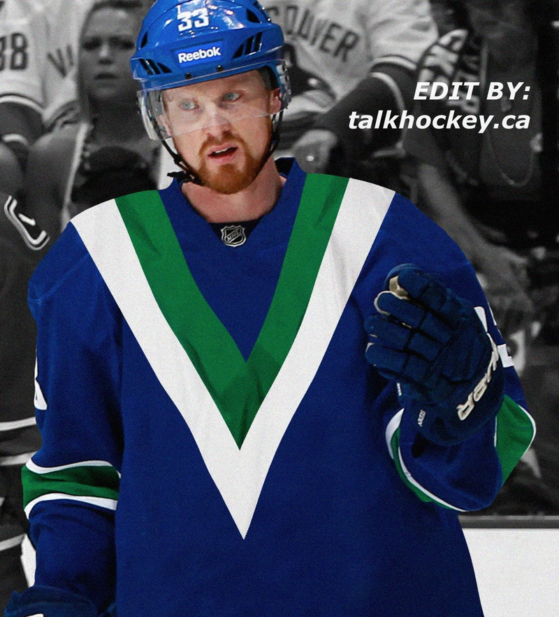 big sale 6d526 24209 Vancouver Canucks Modern Flying V Jersey Concept - Talk Hockey